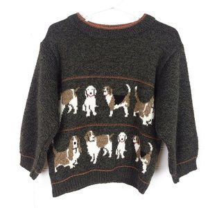 VTG Chill Stoppers Dog Friends Print Sweater